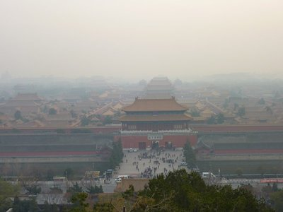 Forbidden City view from Jingshan Park