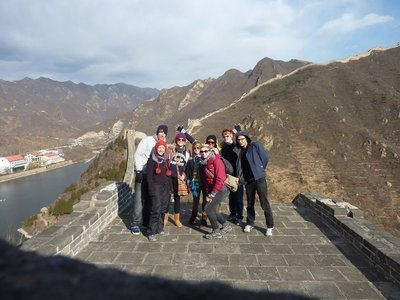 Dragon Bus Crew at The Great Wall