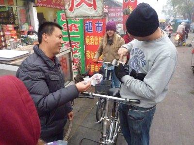 Matt buying dog meat