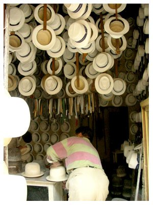 hat shop in Cuenca, Ecuador