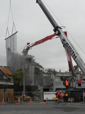 Christchurch - demolition in progress