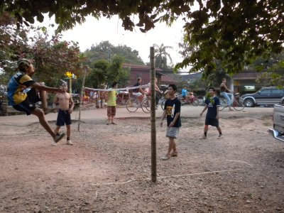 Game of Kataw, a popular sport in Laos