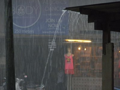 monsoon rains in Thong Sala