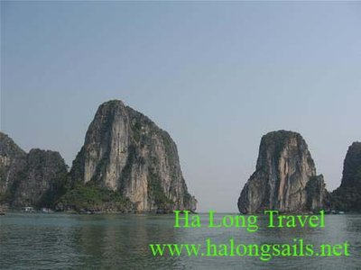 Halong Bay Vietnam with daily life
