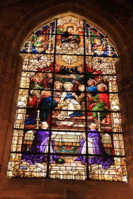 Stained glass windows in the Seville cathedral