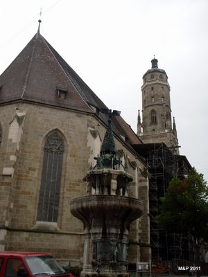 St. Georg's Kirche with the tower we climbed