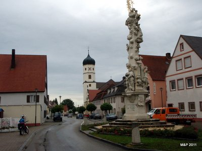 """The Plague Pillar from 1722 (this was also the start of one of our many """"detours"""" of the day)"""