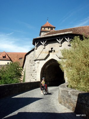 Arriving at the famous Free Imperial City of Rothenburg ob der Tauber!