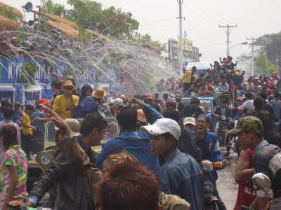 Water festival in Mandalay