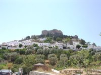 Lindos from the approaching road