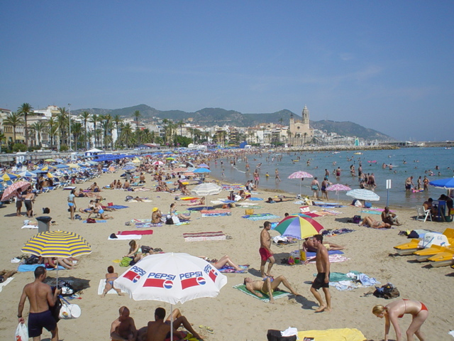 Beach at Sitges