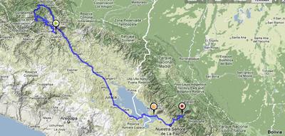 Peru-->Bolivia route
