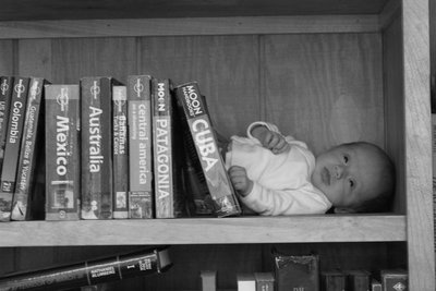 kids in  bookshelf 2 mo b&w2