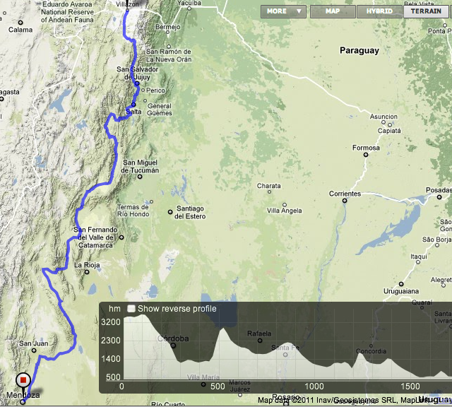 northern argentina border to mendoza