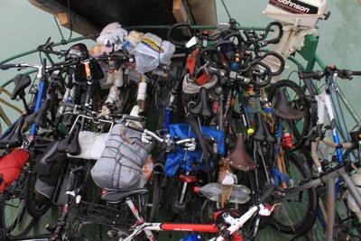 bikes on boat