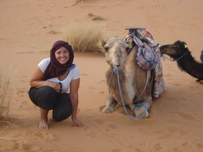 "Robert:  ""My best girl and my best camel"""