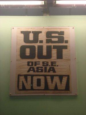 Protest sign, War Remnants Museum