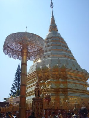 One of Buddha's hairs is buried under this pagota