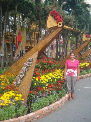 Jennifer at Lunar New Year Flower Festival in Ho Chi Minh City, Vietnam
