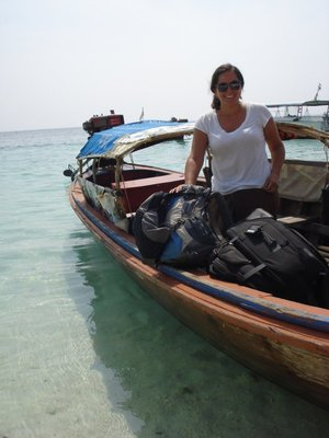 Arriving on Koh Lipe on the water taxi