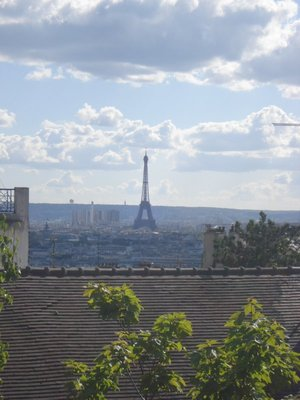 The Eiffel Tower looks stunning from the hill of Montmartre