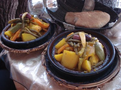 Our first of many Chicken Tajines in Morocco