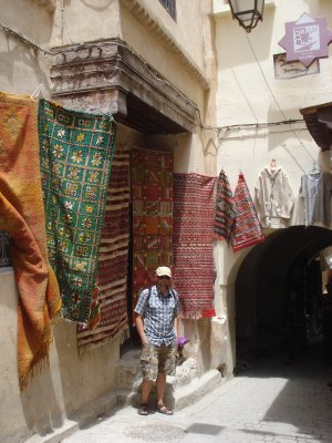 Walking in the narrow alleys of the Medina in Fes