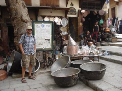 Handmade silver bowls in the Fes Medina