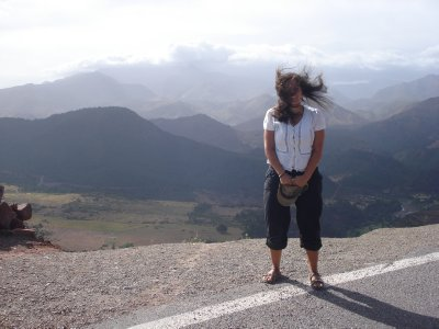 It gets windy high up in the Atlas Mountains!