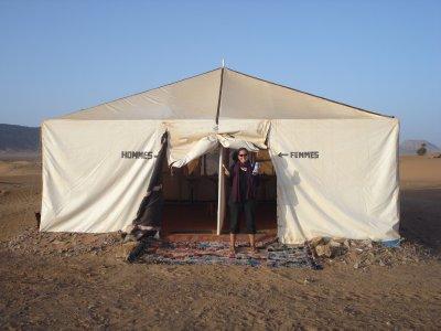 Bathroom in the desert outside of Zagora, Morocco