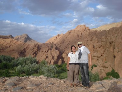 The two of us in the Dades Gorges, Morocco