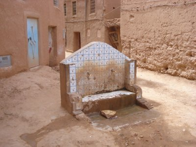 Water source for a collection of Kasbahs in Southern Morocco