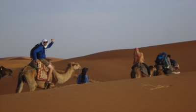Fist-pumping into the Sahara
