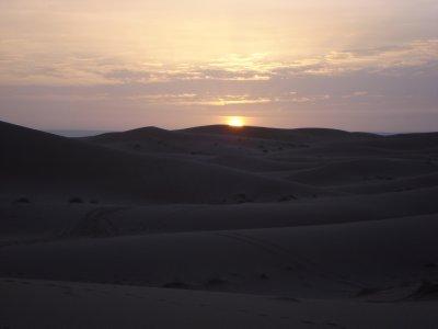Sunrise over the dunes, Sahara Desert, Merzouga, Morocco