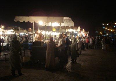 Moroccan Whiskey (Tea) stand at Da Jemaa el-Fnaa square