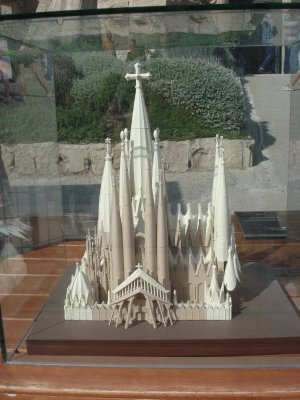 Minature of La Sagrada Familia--The white parts have yet to be built!