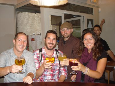Alan, Scott, Robert and Jennifer in Barcelona.  We finally met up!