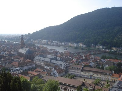 The valley and the Neckar River, Heidelberg, Germany