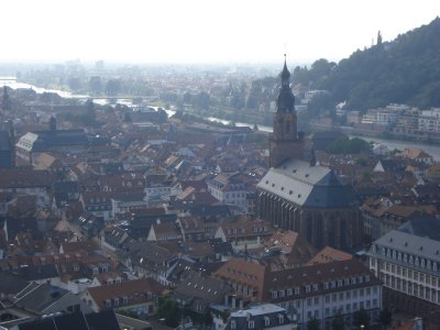View of Heidelberg from the castle