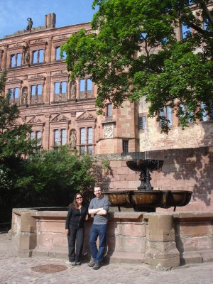 Jennifer and James in the Castle Courtyard, Heidelberg.