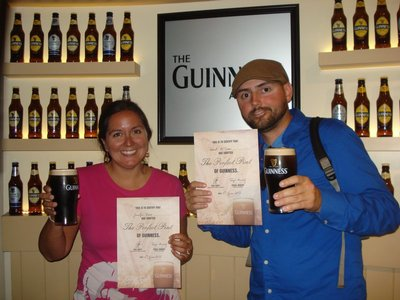 We&#39;re officially certified to pour a perfect pint of Guinness!