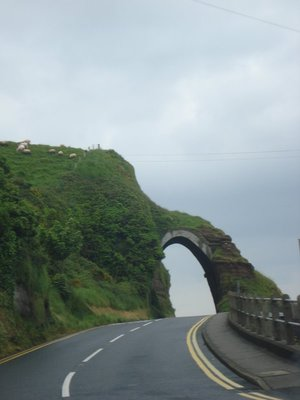 Even though it was raining, it was a beautiful ride up the A2 Coast Road from Larne to Ballycastle.