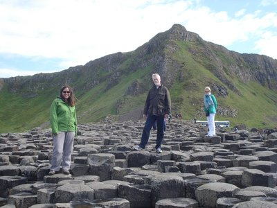 "If Jennifer, Jarlath and Maura formed a rock band, they would have to title their first album, ""Giant's Causeway"" and they would have to use this photo as the album cover."