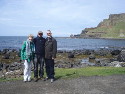 Maura, Robert and Jarlath at Giant's Causeway.