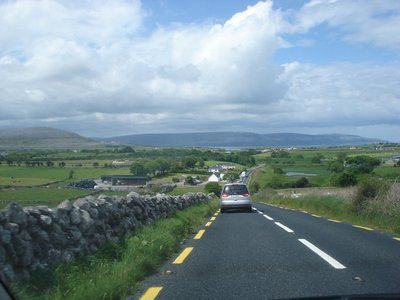 Movin&#39; right along on the highway in County Antrim, Northern Ireland