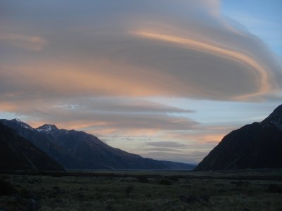 Sunset on Clouds - Mt. Cook