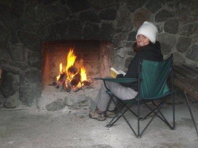 Jenny at Greyney's Shelter - Arthur's Pass