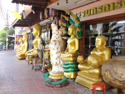 Buddhas for sale on the street