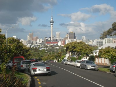 View of central Auckland from Ponsonby