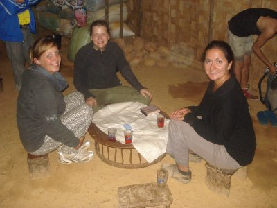 Sabina, Julia and Jennifer at our homestay in the Hmong Village